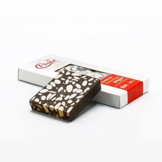 Turrón de chocolate negro con almendras (200 grm)