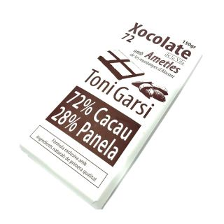 Chocolate con almendras 72% (150gr)