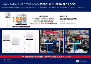 MAMPARA ANTICONTAGIO ESPECIAL SUPERMERCADOS