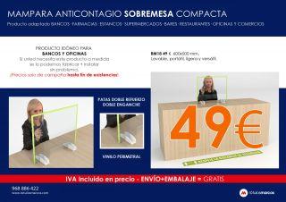 MAMPARA ANTICONTAGIO SOBREMESA COMPACTA