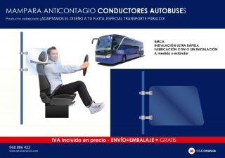 MAMPARA ANTICONTAGIO CONDUCTORES AUTOBUSES