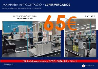 MAMPARA ANTICONTAGIO SUPERMERCADOS