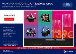 MAMPARA ANTICONTAGIO SALONES DE JUEGO