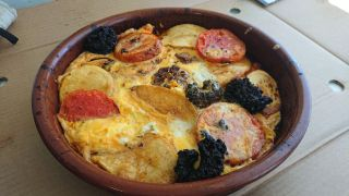 oven baked rice with crust