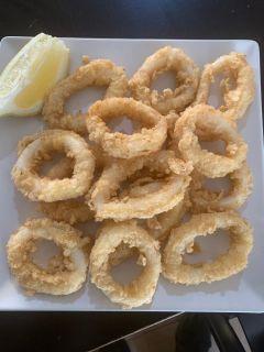 Deep fried squid rings