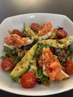salad smoked salmon