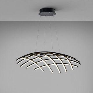 Lámpara de techo negra con LED Trama 797122B Schuller