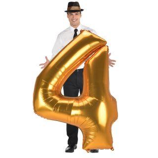 Globo numero 4 dorado (Jumbo)