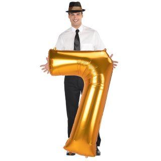 Globo numero 7 dorado (Jumbo)