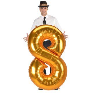 Globo numero 8 dorado (jumbo)