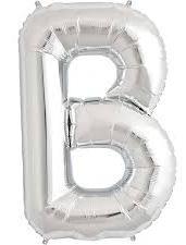 Globo foil letra B en plata