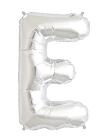 Globo foil letra E en plata