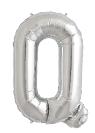 Globo foil letra Q en plata