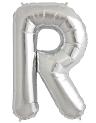 Globo foil letra R en plata