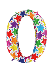 imagen Globo foil holográfico número 0 colores