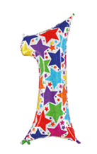 imagen Globo foil holográfico número 1 colores