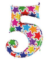 Globo foil holográfico número 5 colores