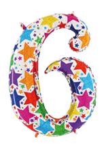 Globo foil holográfico número 6 colores