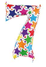 Globo foil holográfico número 7 colores