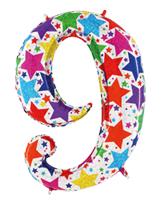 Globo foil holográfico número 9 colores