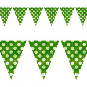 Guirnalda banderín verde con lunares