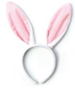 Diadema orejas de conejo blanco