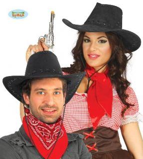Sombrero vaquero cuero negro