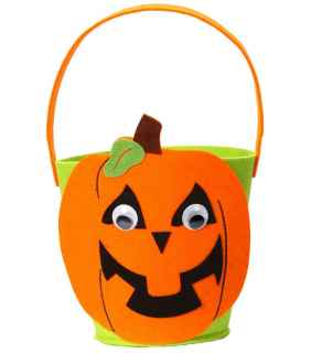 Cesta de calabaza infantil halloween