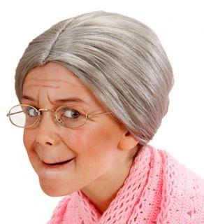 Peluca abuela moño