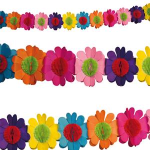 imagen Guirnalda margaritas multicolor