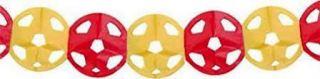 Guirnalda balón roja y amarilla