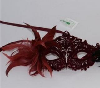Máscara veneciana rojo Velvet