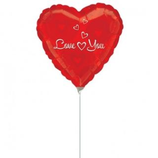Globo micro foil corazon love you