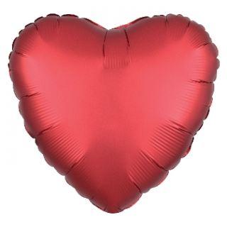 Globo corazón rojo satin sangría