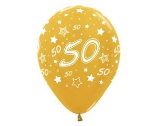 Globo 50 aniversario dorado