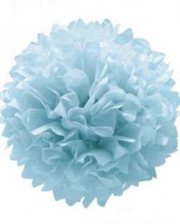 Pompon azul pastel (set 3 und)