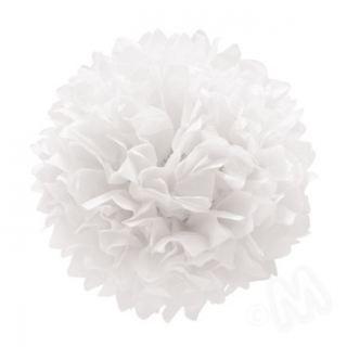 Pompon blanco pastel (set 3 und)