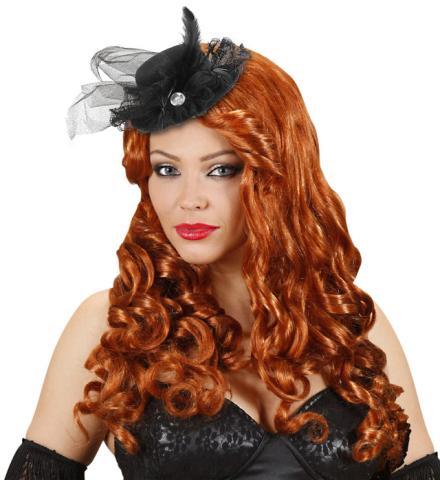 Mini sombrero tocado negro