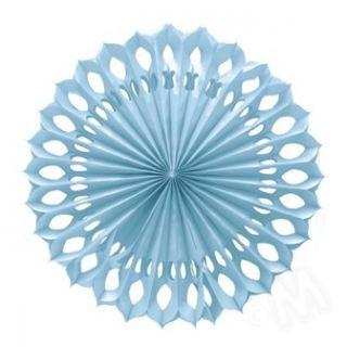 Abanico azul de papel