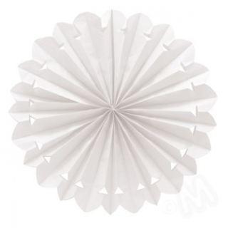 Abanico blanco de papel