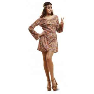 Disfraz de hippie Psicodélica mujer