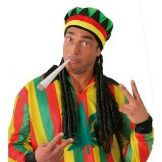 Sombrero jamaicano con rastas