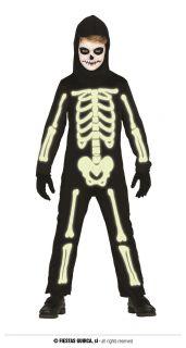 Disfraz de esqueleto fluor