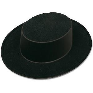 Sombrero Cordobés flocado en negro