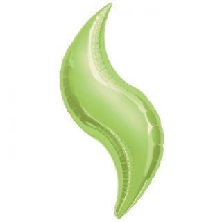 Globo curva verde kiwi