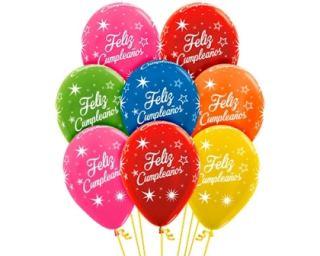 Globo látex feliz cumpleaños metalizados