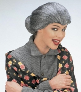 imagen Peluca de abuela con moño