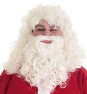 Peluca con barba Papá Noel Lux
