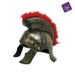 Casco romano con boa