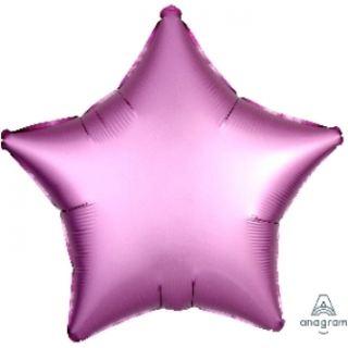 Globo foil estrella satin rosa claro